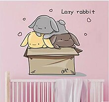 Cartoon niedlichen kaninchen kinderzimmer