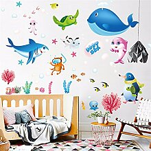 Cartoon Ocean Fish Wandaufkleber Schlafzimmer