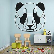 Cartoon Panda Muster Aufkleber für Kinderzimmer