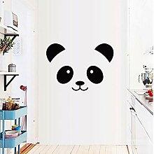 Cartoon Panda Smiley Kinderzimmer Wandaufkleber