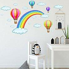 Cartoon Regenbogenwolke Wandaufkleber Kinder Baby