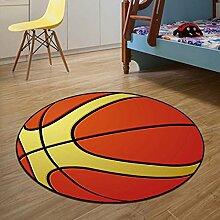 Cartoon runden Teppich Wohnzimmer Yoga Matte Computer Stuhl Kissen Basketball ( größe : 120 cm )