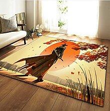 Cartoon Samurai-Stil Kinder Spielplatz Teppiche,