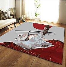 Cartoon Samurai Stil Kinder Spielplatz Teppiche,