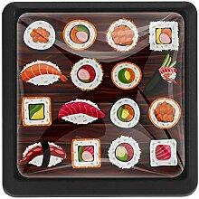 Cartoon Seafood Sushi Türschublade Zuggriff