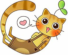 Cartoon Smiley Katze Toilette Aufkleber