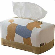 Cartoon-Stil Baumwolle und Leinen Tissue-Box