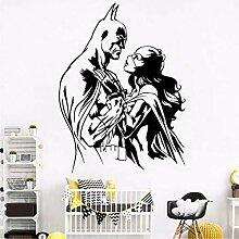 Cartoon Superheld Wandkunst Aufkleber
