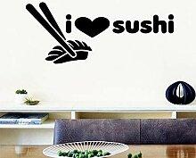 Cartoon Sushi Cartoon Wandtattoos Pvc Wandkunst