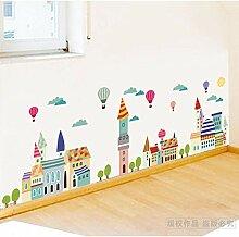 Cartoon Tier Schloss Kinderzimmer Wand