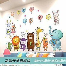 Cartoon Tierhöhe Aufkleber Wandaufkleber
