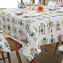 Cartoon-Tischdecke/Tuch/ Baumwolle und Leinen Tischdecken/ American Country Tischdecken/ Tischtuch/ moderne minimalistische Tischdecke/ Platz Tischdecken-A 90x90cm(35x35inch)