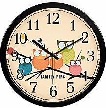 Cartoon Uhr Tisch/Kinder Zimmer Leise Cartoon Wanduhr/Kreative Niedlichen Uhr-A 12Zoll