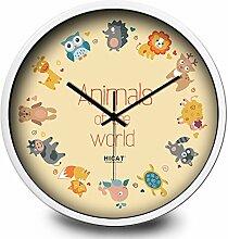 Cartoon-wanduhr/Simple Mode Wild Wanduhr/Schlafzimmer Wohnzimmer Küchenuhr-B 12Zoll