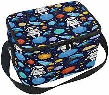 Cartoon-Weltraum-Panda Lunchbox-Tasche, tragbare
