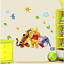 Cartoon Winnie The Pooh Wandaufkleber Für