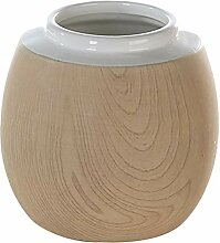 Casa Bodenvase Vase Blumenvase Porzellan weiß mit