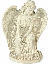 Casa Collection 09525 Engel mit einem Bein kniend, betend, Höhe 52 cm, antikweiß