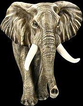 Casa Collection Wandrelief - Elefant Gartenfigur |