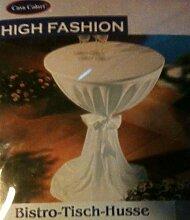 Casa Colori High Fashion Bistro Tisch Husse hellblau