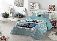 Casa Creativa Kreative Hause Hamilton Bouti mit Lebkuchenherz Bett mit 90 cm Breite Blau/Türkis
