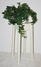 Casa Massivholz Blumentisch 60cm cremefarben