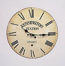 Casa Padrino Antik Stil Wanduhr 33.5 cm Kensington Station - Nostalgie Nostalgische Wohn Einrichtung - Antik Look