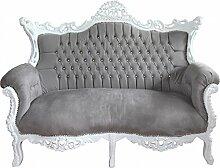Casa Padrino Barock 2-er Sofa Master Grau/Weiß