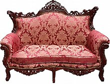 Casa Padrino Barock 2er Sofa Master Bordeaux