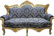 Casa Padrino Barock 2er Sofa Master Royal Blau