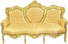 Casa Padrino Barock 3-er Sofa 'King' Gold