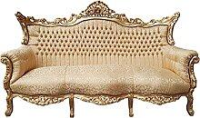 Casa Padrino Barock 3er Sofa Gold Muster/Gold -