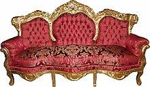Casa Padrino Barock 3er Sofa Lord Bordeaux Barock