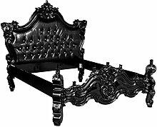 Casa Padrino Barock Bett Barocco Schwarz Croco