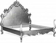 Casa Padrino Barock Bett Lusso Superior Silber 180