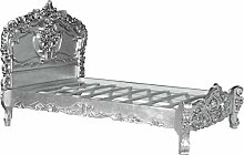 Casa Padrino Barock Bett Pure Baroque Silber 160 x
