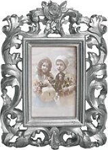 Casa Padrino Barock Bilderrahmen 28 x 20 cm Silber
