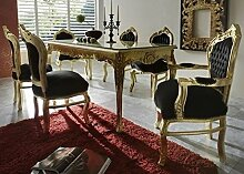 Casa Padrino Barock Esszimmer Set Schwarz/Gold -