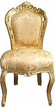 Casa Padrino Barock Esszimmer Stuhl Gold Blumen