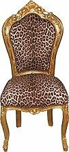 Casa Padrino Barock Esszimmer Stuhl Leopard/Gold