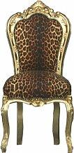 Casa Padrino Barock Esszimmer Stuhl Leopard/Gold -