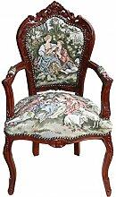Casa Padrino Barock Esszimmer Stuhl mit Armlehne