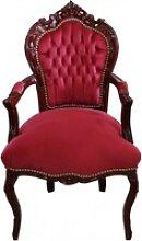 Casa Padrino Barock Esszimmer Stuhl mit Armlehnen