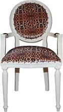 Casa Padrino Barock Esszimmer Stuhl mit Leopard /