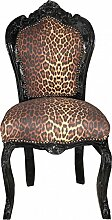 Casa Padrino Barock Esszimmer Stuhl ohne Armlehne