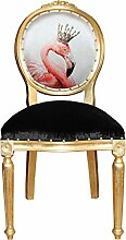 Casa Padrino Barock Esszimmer Stuhl ohne Armlehnen