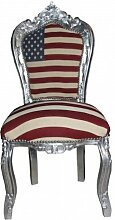 Casa Padrino Barock Esszimmer Stuhl USA