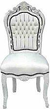 Casa Padrino Barock Esszimmer Stuhl Weiß/Weiß