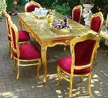 Casa Padrino Barock Esszimmerset Bordeaux/Gold -