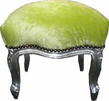 Casa Padrino Barock Fußhocker Jadegrün/Silber -